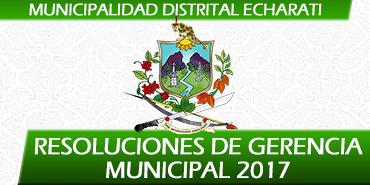 Resoluciones de Gerencia Municipal - 2017
