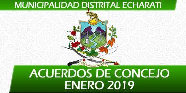 Acuerdos de Concejo - Enero 2019