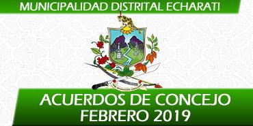 Acuerdos de Concejo - Febrero 2019