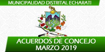 Acuerdos de Concejo - Marzo 2019