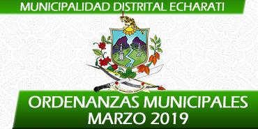 Ordenanzas Municipales - Marzo 2019