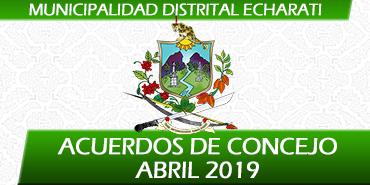 Acuerdos de Concejo - Abril 2019