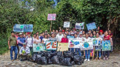 Participativa jornada de limpieza por el día internacional de la Madre Tierra en Echarati