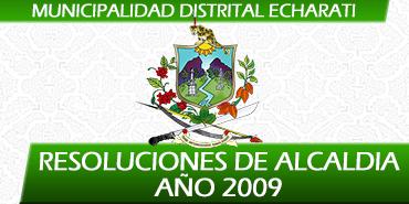 Resoluciones de Alcaldía - 2009
