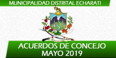 Acuerdos de Concejo - Mayo 2019