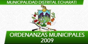 Ordenanzas Municipales - 2009