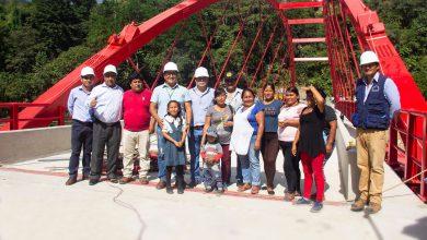 Alcalde Boris Chavez superviso trabajos de puente Echarati Echarati