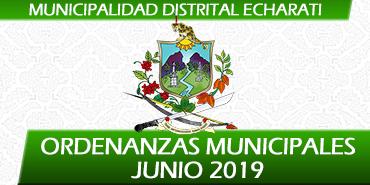 Ordenanzas Municipales - Junio 2019