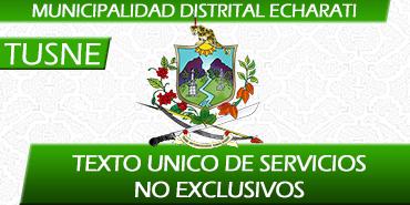 Texto Unico de Servicios No Exclusivos (TUSNE)