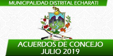 Acuerdos de Concejo - Julio 2019