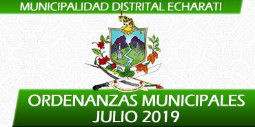 Ordenanzas Municipales - Julio 2019