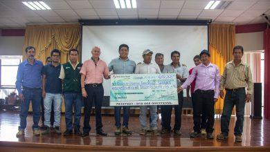 AGRORURAL entrega cheque a beneficiarios de primer CLAR de obras en Echarati