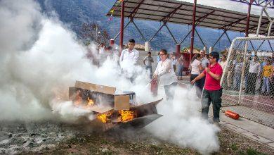 Personal de planta de municipalidad de Echarati se capacita en prevención de incendios y manejo de extintores