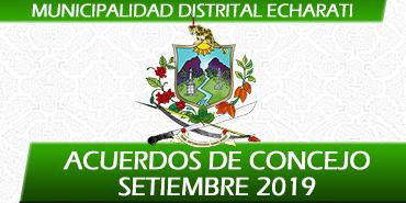 Acuerdos de Concejo - Setiembre 2019