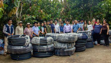 Comités de riego de Echarati Pampa Echarati y Santa Genara son beneficiados con módulos de riego
