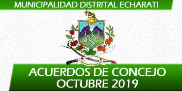Acuerdos de Concejo - Octubre 2019
