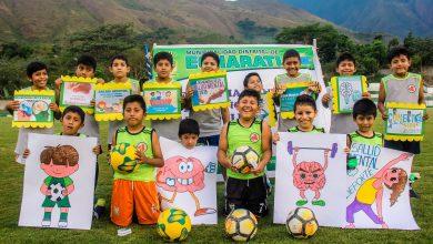 Niños echaratinos participan en actividades de sensibilización por el día mundial de la salud mental