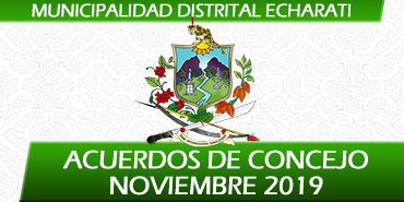 Acuerdos de Concejo - Noviembre 2019