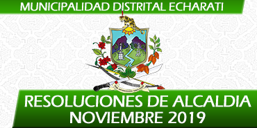 Resoluciones de Alcaldía - Noviembre 2019
